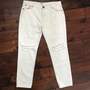 One x OneTeaspoon off-white distressed denim jeans